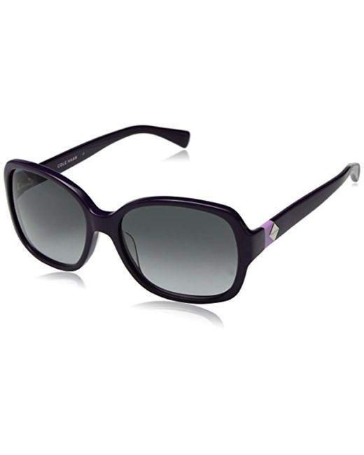Cole Haan - Purple Ch7001 Plastic Butterfly Cateye Sunglasses, 56 Mm - Lyst