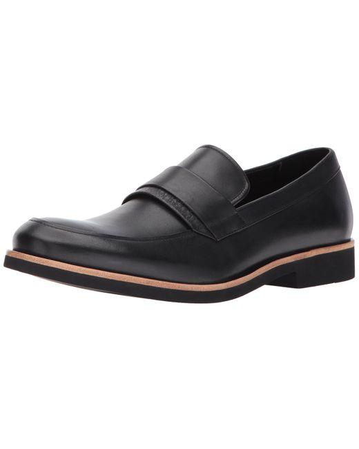 Calvin Klein Black Forbes Dress Calf Slip-on Loafer for men