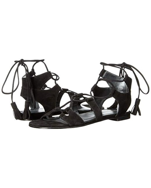6ec6fed74670 Lyst - Stuart Weitzman Roman Gladiator Sandal in Black - Save ...