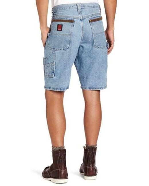 13d4e740a5 ... Wrangler - Blue RIGGS Workwear Big & Tall Carpenter Short for Men ...
