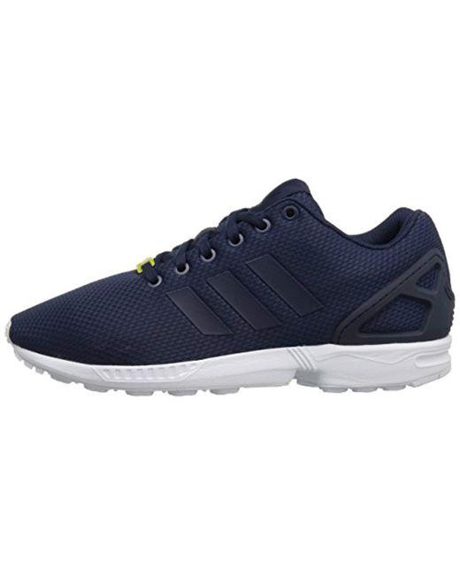 timeless design 8f46b 10a9d Lyst - adidas Originals Zx Flux Sneaker,dark Blue/dark Blue ...