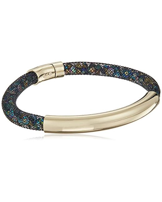 """Kenneth Cole - Metallic """"multi-color Gold Bar With Mesh Tube Bracelet - Lyst"""