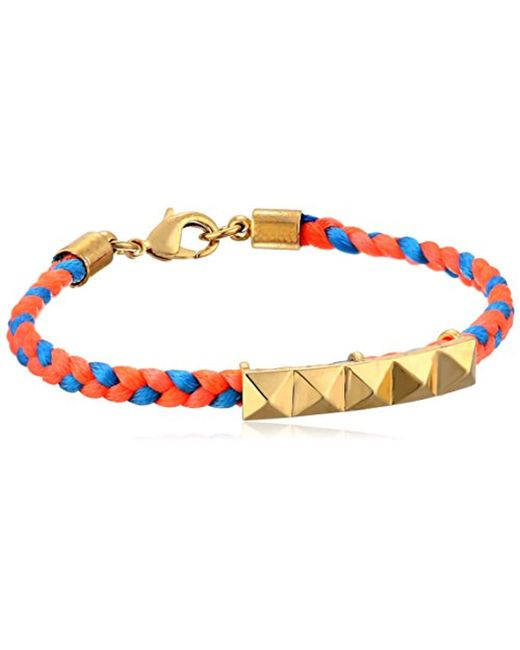 "Tai - Orange Pyramid Charm Bracelet, 6.5"" - Lyst"