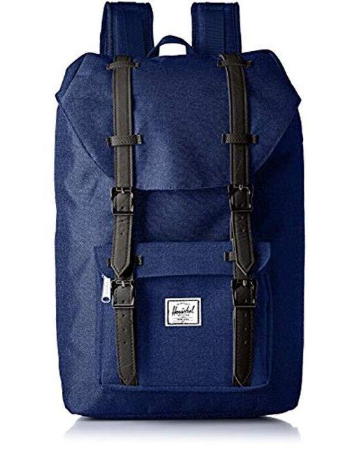 Herschel Supply Co. - Blue Little America Mid-volume Backpack - Lyst ... 9de96881fcf03