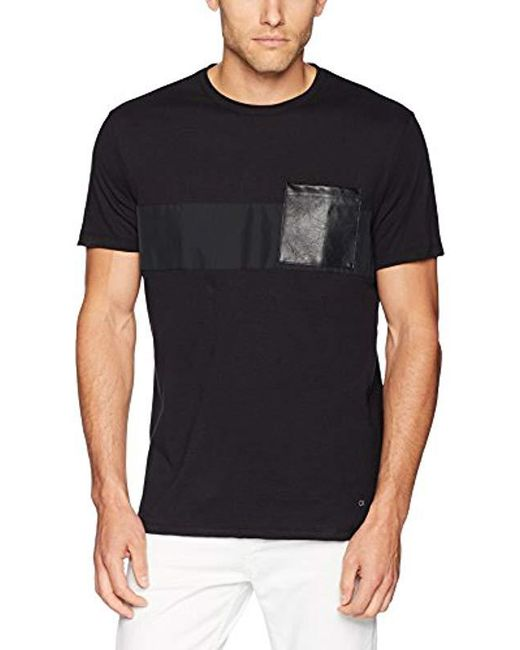 Calvin Klein - Black Short Sleeve Graphics T-shirt for Men - Lyst
