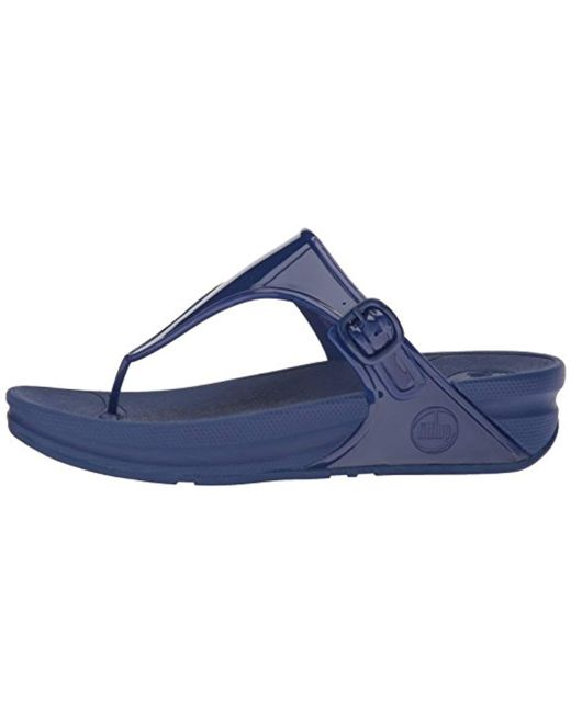 bef79c420be4f6 ... Fitflop - Blue Superjelly Flip Flop - Lyst ...