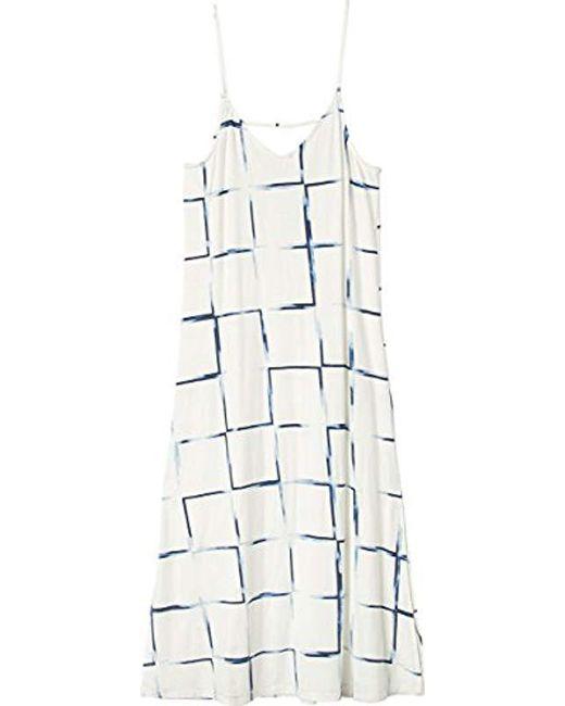 RVCA - White Bottleneck Midi Dress - Lyst