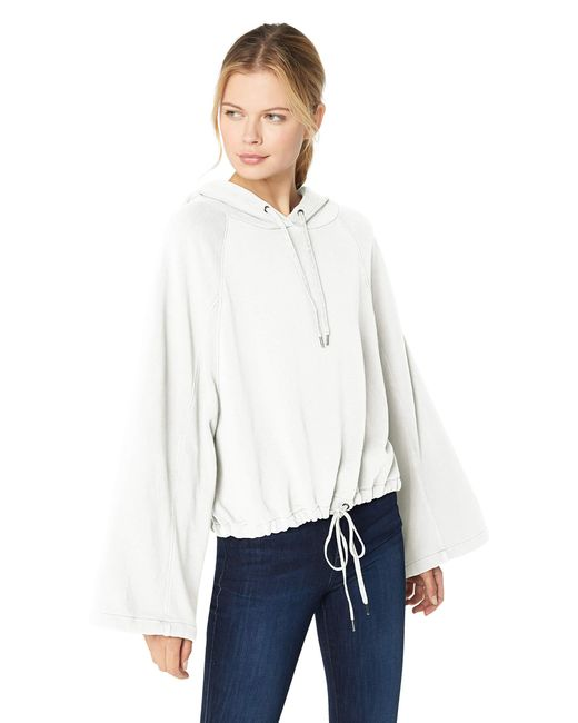 Splendid White Active Hoodie Pullover