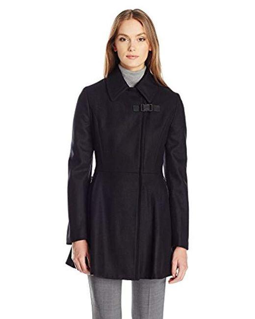 Calvin Klein - Black Asymmetrical W/zip Closure And Zipper Pocket Wool & Waist Detail - Lyst