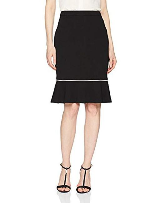 f71f0be382 Lyst - Calvin Klein Skirt With Flounce Hem in Black - Save 49%