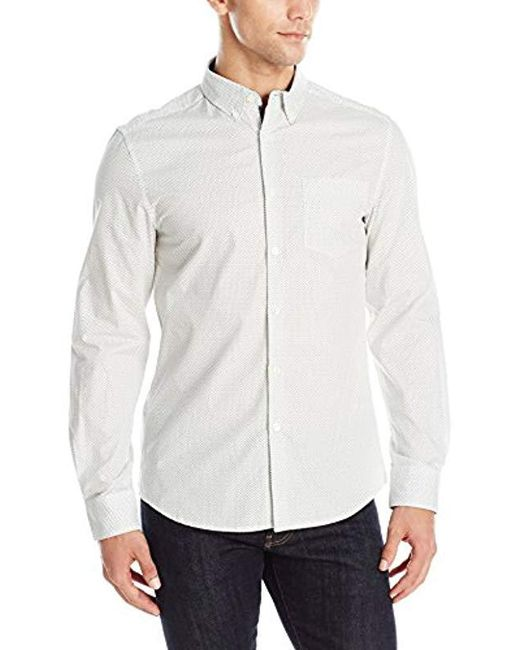 Kenneth Cole Reaction - White Long Sleeve Party Shirt for Men - Lyst