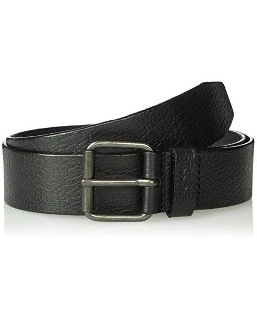 BOSS Black Jesse Leather Belt for men