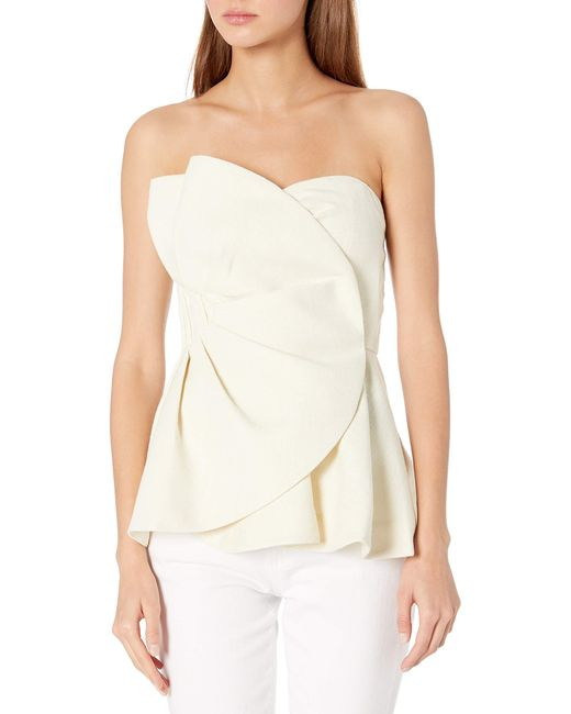 Keepsake Multicolor Strapless Assymetric Be Free Ruffle Top
