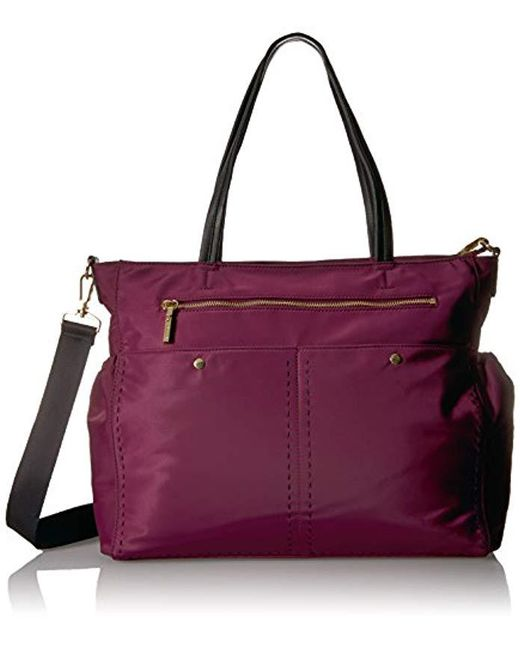 MILLY - Purple Sold Stitch Diaper Bag, Burgundy - Lyst