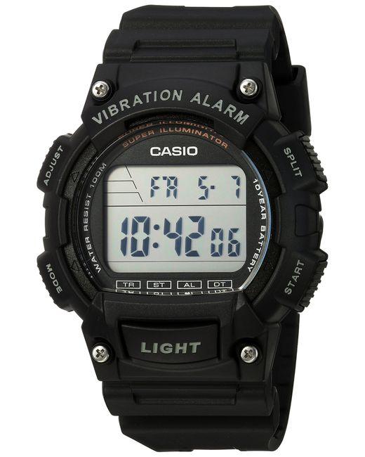 Orologio W-736H-1A con quarzo giapponese con cinturino in resina e allarme vibrazione di G-Shock in Black