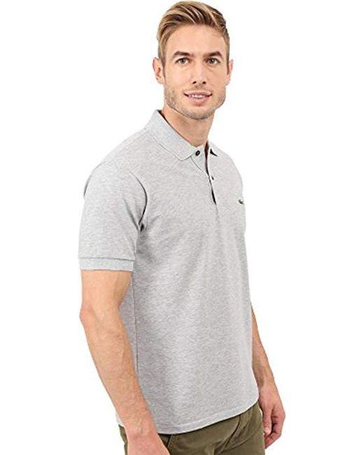 e039f9e3a ... Lacoste - Gray Short Sleeve Classic Chine Fabric L.12.64 Original Fit  Polo Shirt for
