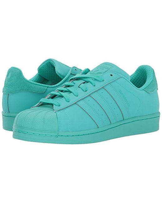 sports shoes 237bd 8a0b2 ... Adidas Originals - Blue Superstar Adicolor Running Shoe for Men - Lyst  ...