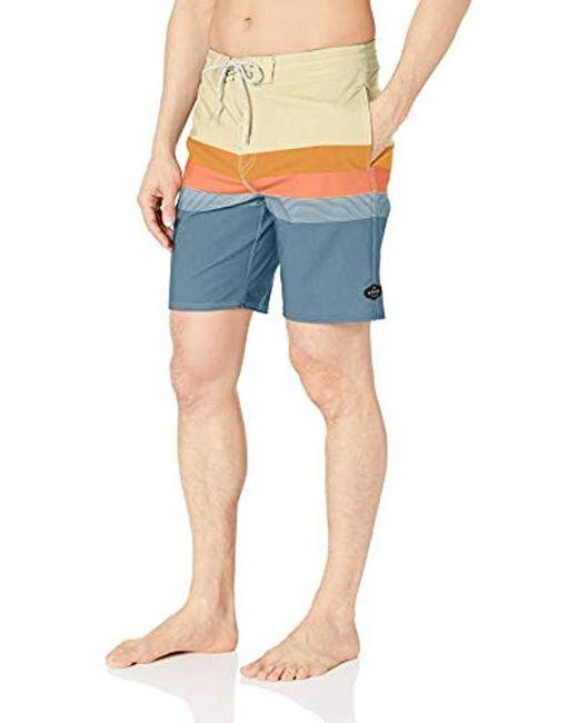Rip Curl Blue Rapture Layday Side Pocket Boardshorts for men