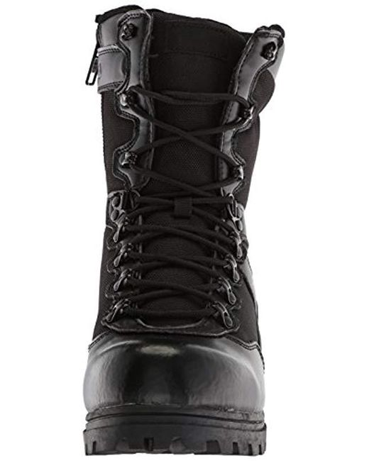 2991cb477f Men's Black Stormer Military And Tactical Boot Food Service Shoe