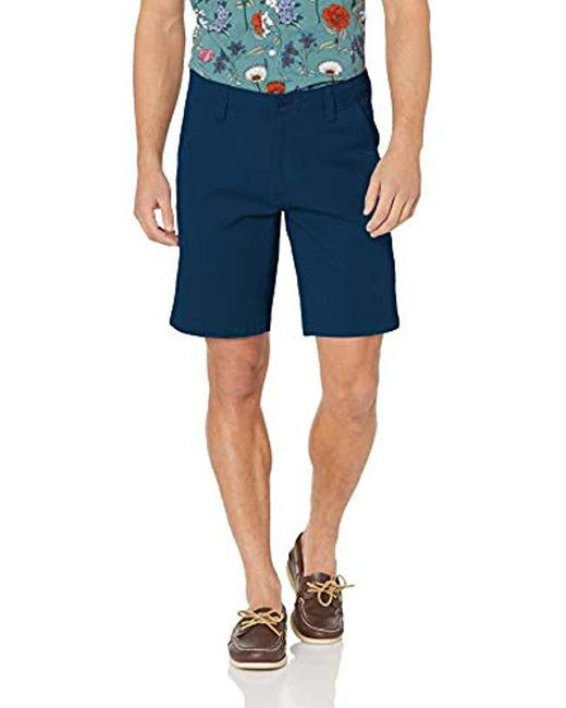 Dockers Blue Straight Fit Smart 360 Flex Short for men