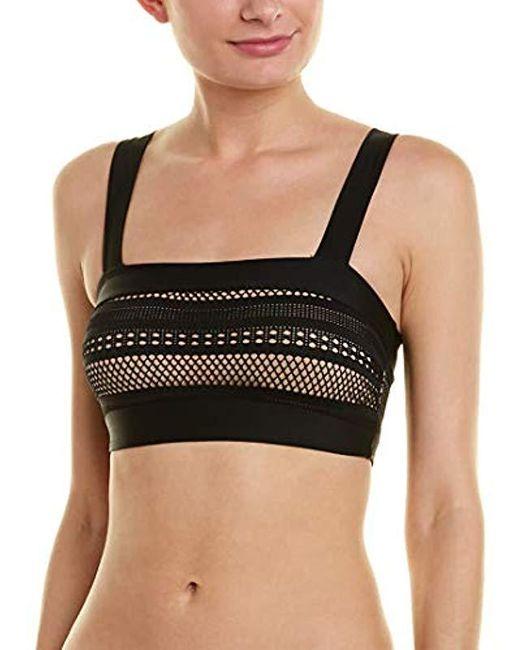 Ella Moss Black Bandeau Swimsuit Bikini Top With Straps