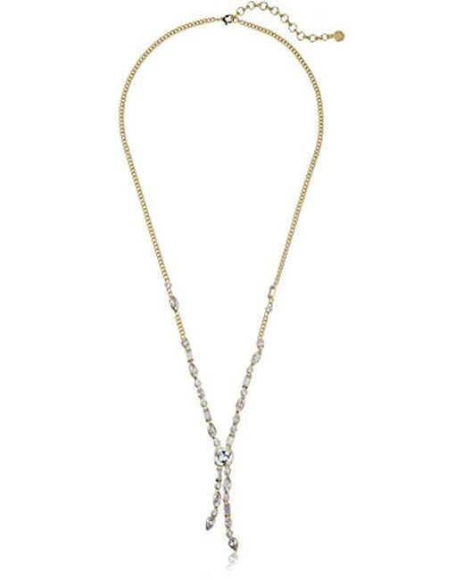 Nicole Miller - Metallic Cushion Mixed Stone Long Y-shaped Necklace - Lyst