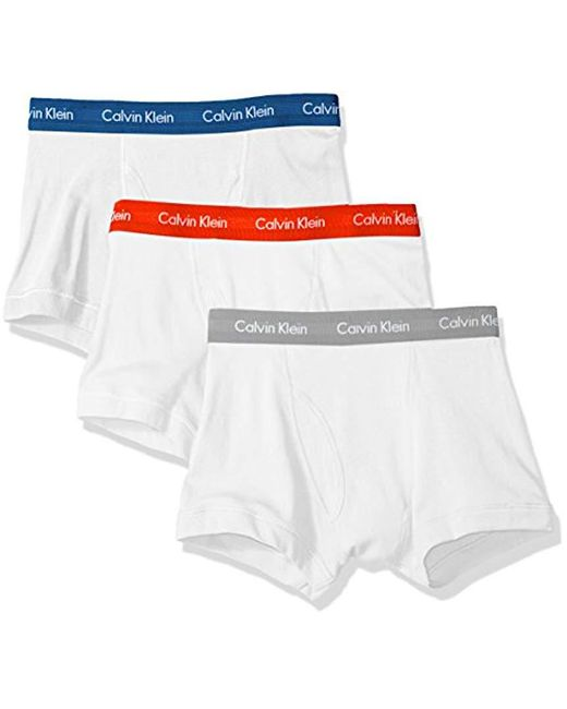 Calvin Klein - White Underwear Cotton Classics 3 Pack Trunks for Men - Lyst