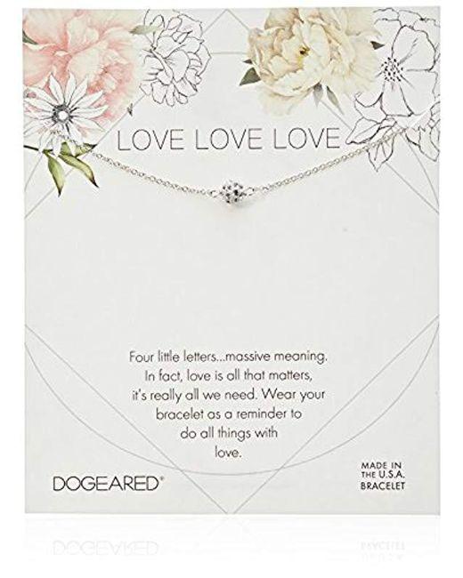 Dogeared - Metallic Love Pave Sparkle Ball Bracelet - Lyst