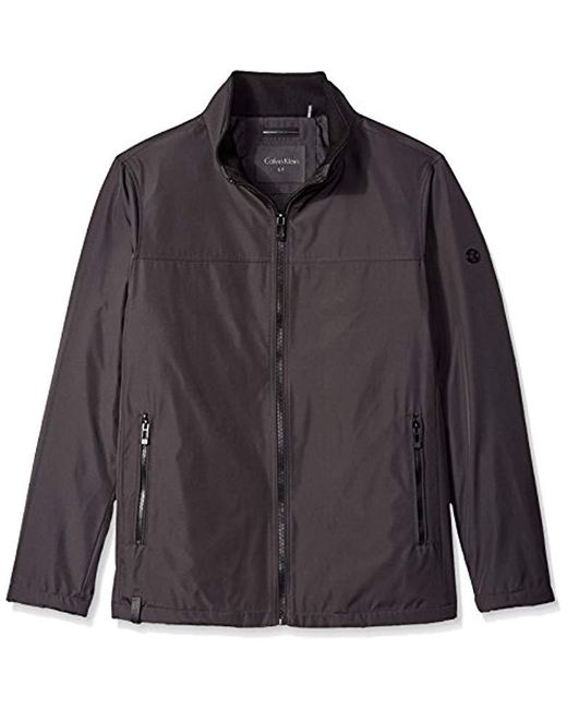 Calvin Klein - Black Big And Tall Poly Bonded Open Bottom Jacket for Men - Lyst