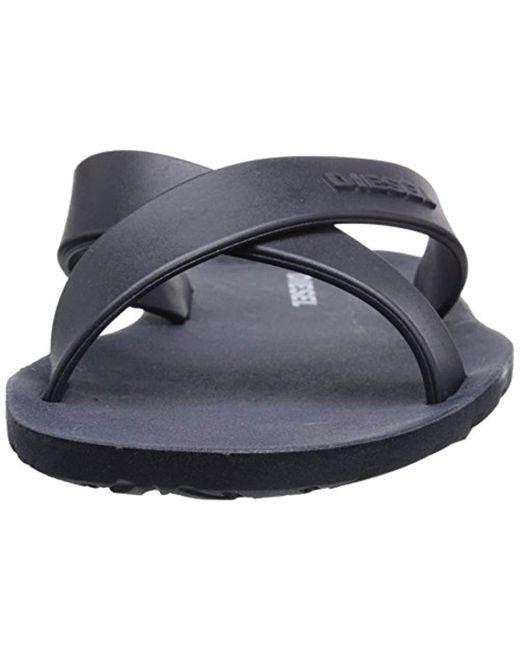 b33a528c21fa99 ... DIESEL - Blue Plaja Wash Flip-flop Sandal for Men - Lyst ...