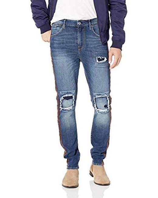 Guess - Blue Utility Fit Jean Stripes for Men - Lyst