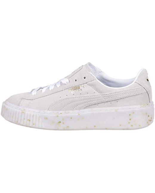 8a4e47a6301a ... Lyst PUMA - White Suede Platform Celebrate Wn s Sneaker ...