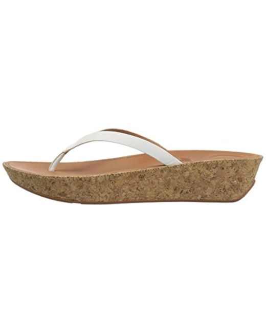 2b92eae4ecb9 ... Fitflop - Multicolor Linny Toe-thong Sandals-leather Wedge - Lyst ...