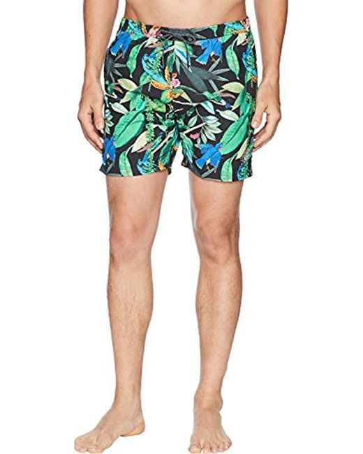 Scotch & Soda - Multicolor Elasticated Swimshort With Colourful All-over Print for Men - Lyst