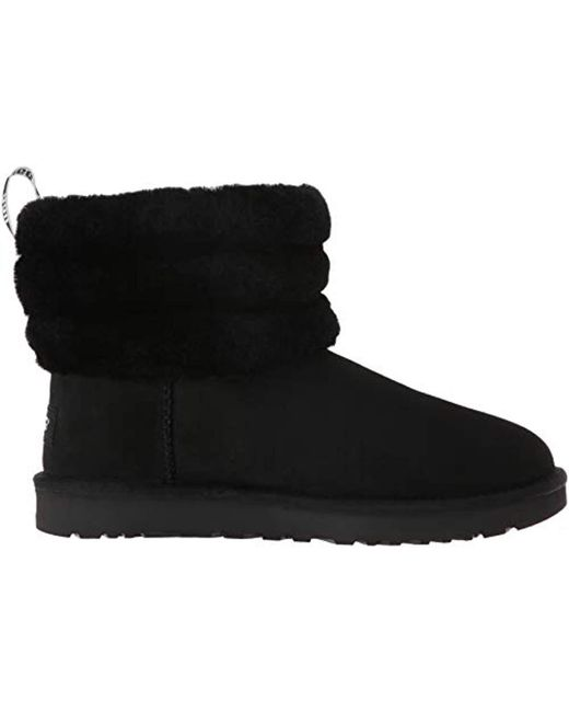 43f7b4f822d Women's Black Fluff Mini Quilted Logo Boot