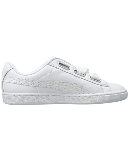 727a939a6f4 Lyst - PUMA Basket Heart Oceanaire Wn Sneaker in White - Save 16%