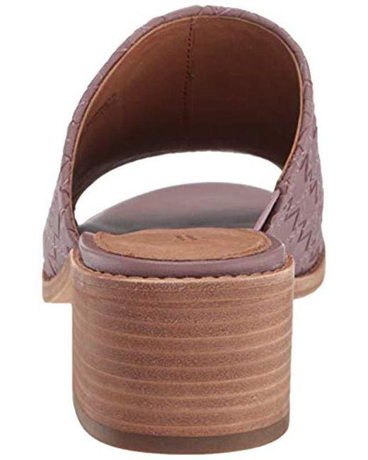 fbbc21c23df37 Frye Women's Cindy Woven Leather Block Heel Sandals in Purple - Save ...