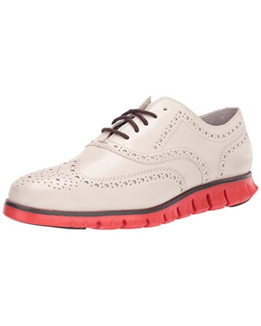 Cole Haan White Zerogrand Wingtip Oxford for men