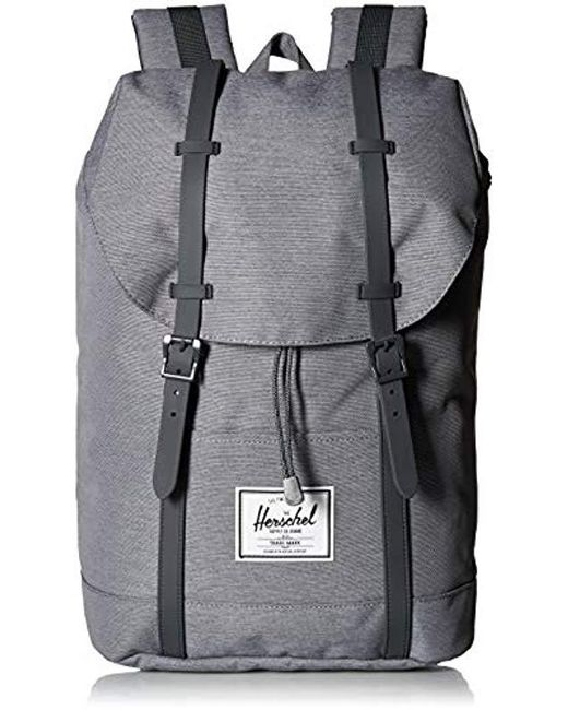 Herschel Supply Co. - Gray Retreat Backpack for Men - Lyst ... 3e28e9361b