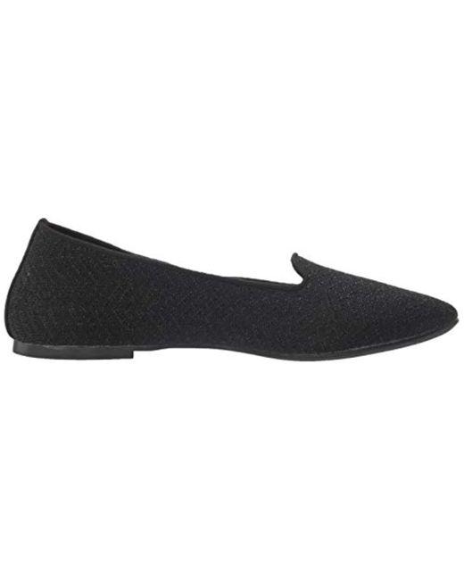Women's Black Cleo-twist N Shout-metallic Engineered Knit Loafer Ballet Flat