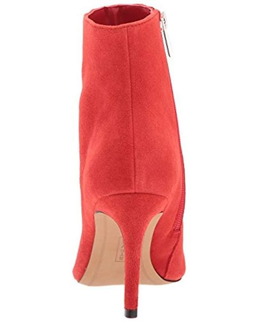 9cad99c44 Steve Madden Steven Logic Ankle Boot in Red - Save 68% - Lyst