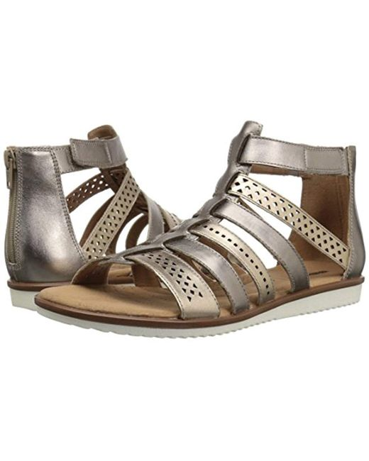 1c2fb6c04 Lyst - Clarks Kele Lotus Gladiator Sandal in Metallic - Save 36%