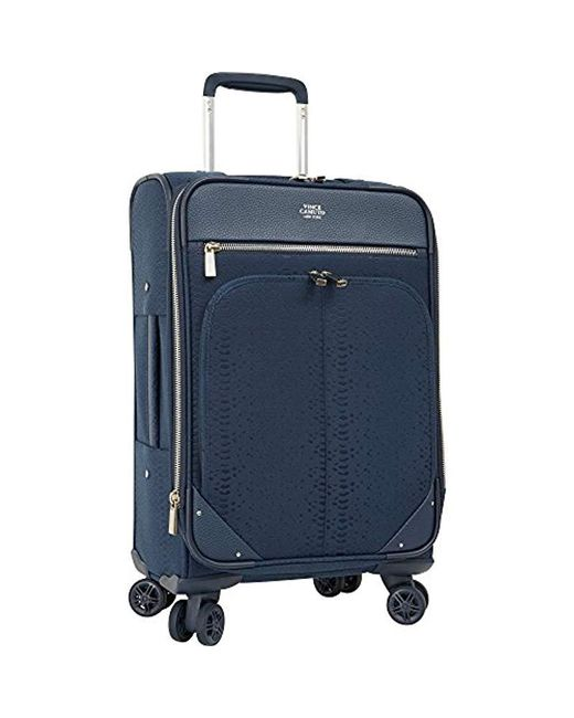 Vince Camuto - Blue Expandable Spinner Carry On Suitcase - Lyst