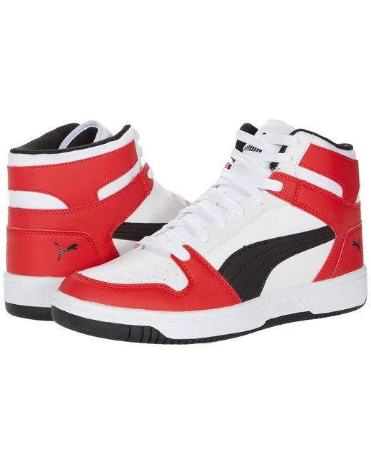 Rebound Layup Sneaker Cuir PUMA pour homme en coloris Blanc - 64 ...