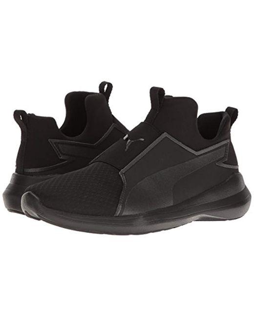 8d4470fdae5b Lyst - Puma Rebel Mid Wns Sneaker in Black - Save 67.14285714285714%