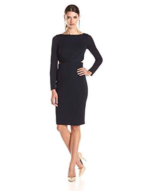 Bailey 44 - Blue Valerie Mesh-detail Dress - Lyst
