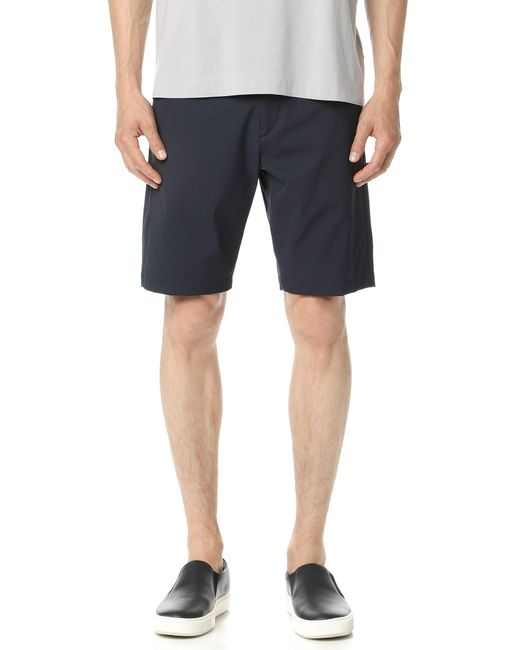 Theory Blue Zaine Neoteric Shorts for men