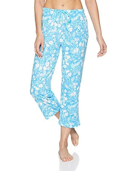 Nautica - Blue Printed Capri Pajama Pant - Lyst