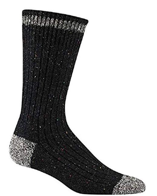 Wigwam - Black Fireside Authentic Classic Retro Fashion Crew Sock for Men - Lyst