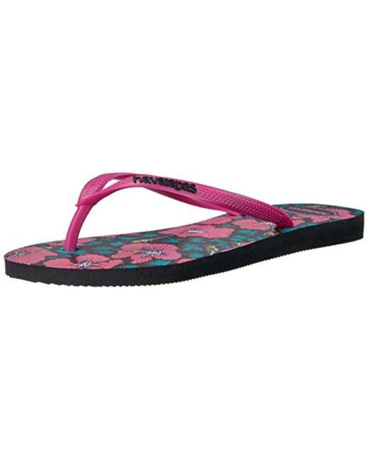 86bf9a62738d Havaianas - Multicolor Slim Floral Sandal Flip Flop - Lyst ...